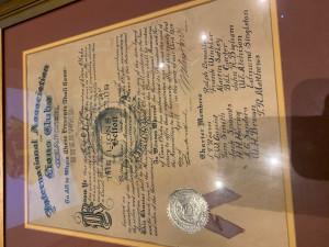 1939 Belton Lions Charter